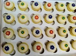 Mini Flower Lemon Cream Cheese Cupcakes
