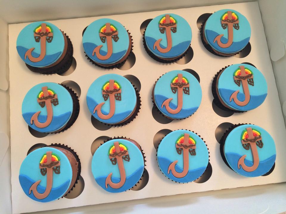Custom Logo Cupcake Toppers