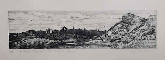 2020 Edinburgh Skyline with Salisbury Crags, 5/95