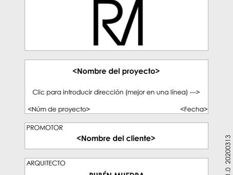 Creación de plantilla para implantación BIM en Ruben Muedra estudio de arquitectura