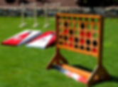 Giant Connect 4 Board, Falcons Cornhole Board and Ladder Golf