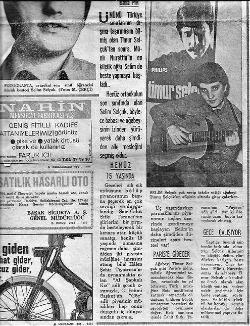 Selim Sekçuk 15 yaşında