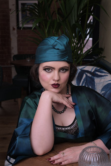 Photography by Caroline Bay, Hat by Adrienne Henry, MUAH Paula's Vintage Parlour