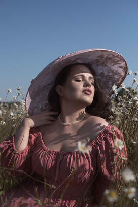 Photography by Caroline Bay, Hat by Adrienne Henry