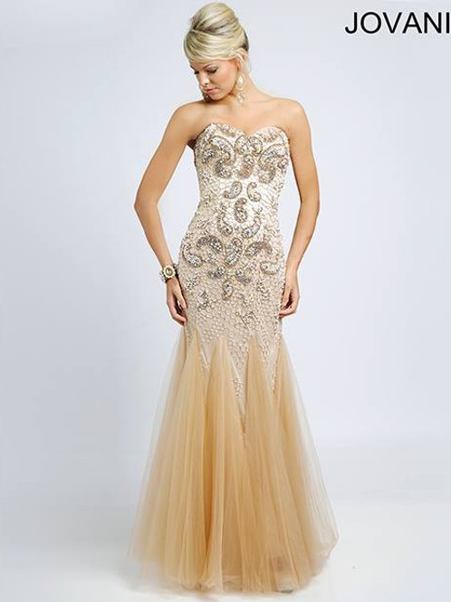 JOVANI GOLDEN DRESS