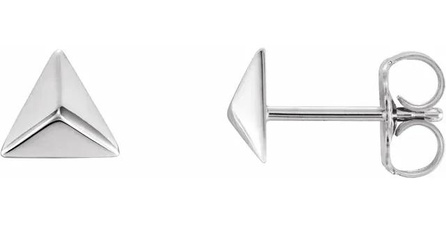 Sterling Silver Pyramid Earrings