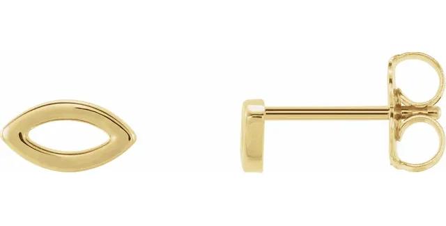 14K Yellow Gold Geometric Earrings