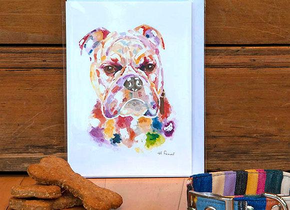 Greeting Card - Old English Bulldog