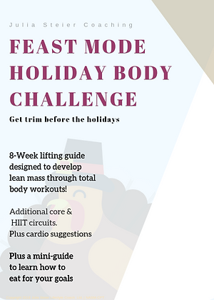 Feast Mode Holiday Body Challenge