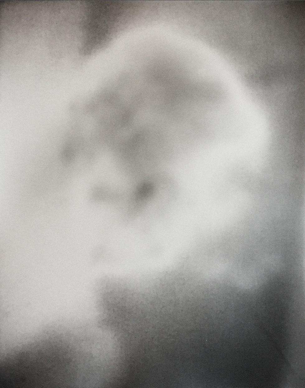 "2016  silver gelatin print  Solarized negative from cell phone image, re-solarized onto silver gelatin paper  11""x14"""