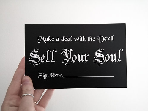 Sell Your Soul // A5 Print on Recycled Paper