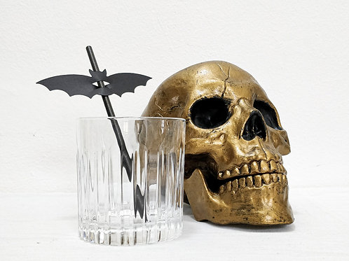 Spooky Paper Bat Straws (100% Compostable)