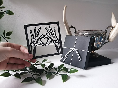 Love You to Death Papercut Illustration