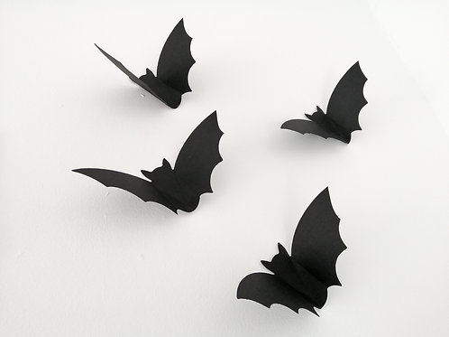 Charity Item Flying Bats Wall Decor made from Recycled Card