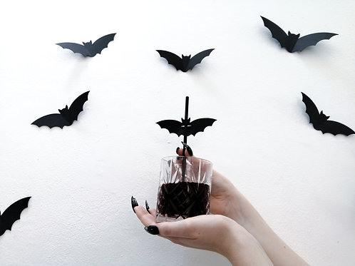 Spooky Paper Bat Straws (100% Compostable!)