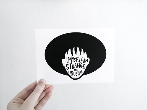 Strange and Unusual // A5 Print on Recycled Paper