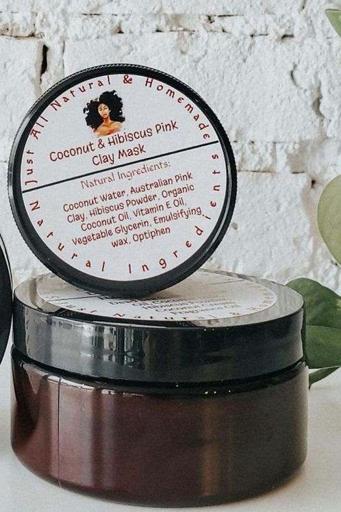 Coconut & Hibiscus Pink Clay Mask