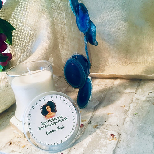 Peppermint & Vetiver Soy Massage Candle