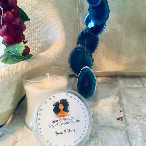 Sandalwood & Geranium Soy Massage Candle