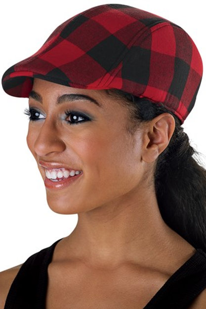 Buffalo Plaid Newsboy Cap