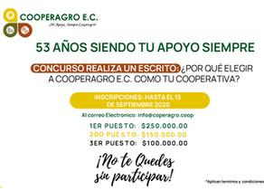 CONCURSO: REALIZA UN ESCRITO - 53 AÑOS SIENDO TU APOYO SIEMPRE