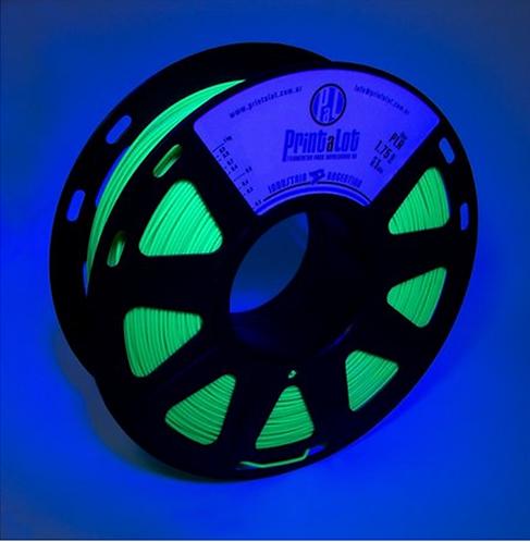 Filamento PLA Fluorescente Verde - 1,75mm - 1kg