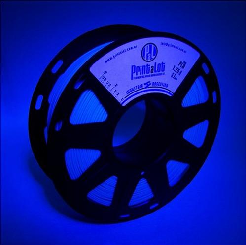 Filamento PrintaLot PLA Fluorescente Azul - 1,75mm - 1kg