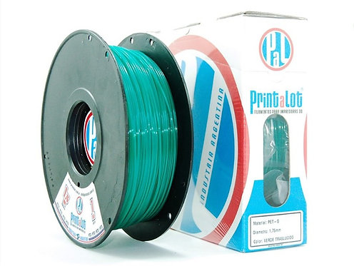 Filamento PrintaLot PETG Translúcido Verde - 1,75mm - 1kg