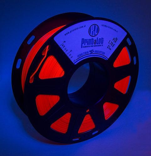 Filamento PrintaLot PLA Fluorescente Vermelho - 1,75mm - 1kg