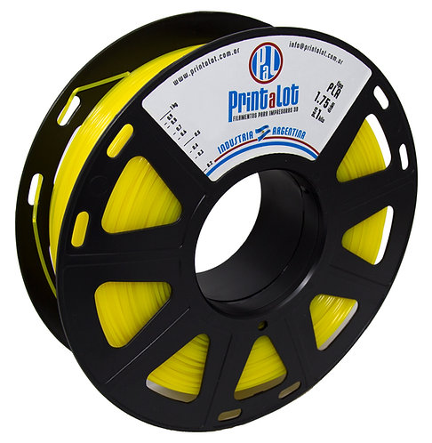 Filamento PrintaLot PLA Translúcido Amarelo - 1,75mm - 1kg
