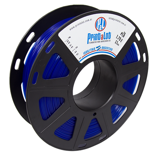 Filamento PrintaLot PLA Translúcido Azul - 1,75mm - 1kg