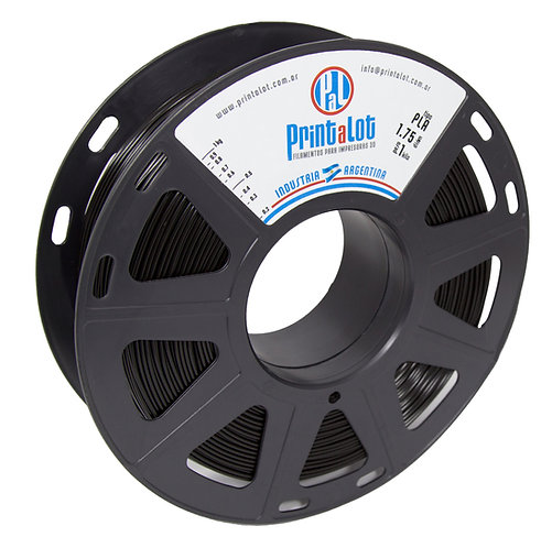 Filamento PrintaLot PLA Preto - 1,75mm - 1kg