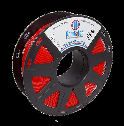 Filamento PrintaLot ABS Vermelho - 2,85mm - 1kg