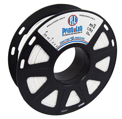 Filamento PrintaLot PETG Branco - 1,75mm - 1kg