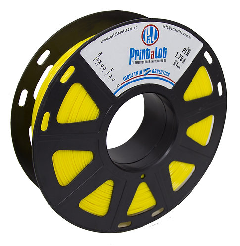 Filamento PrintaLot PLA Amarelo - 2,85mm - 1kg