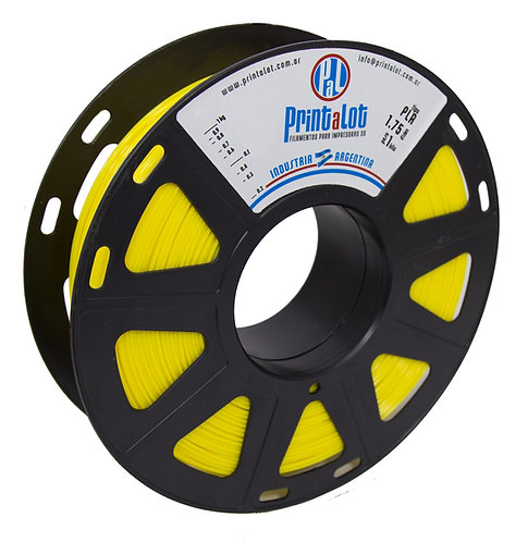Filamento PrintaLot PLA Amarelo - 1,75mm - 1kg