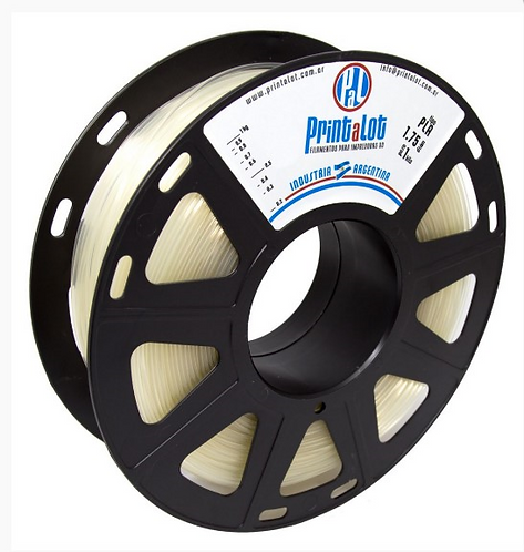 Filamento PrintaLot PLA Translúcido Natural - 2,85mm - 1kg