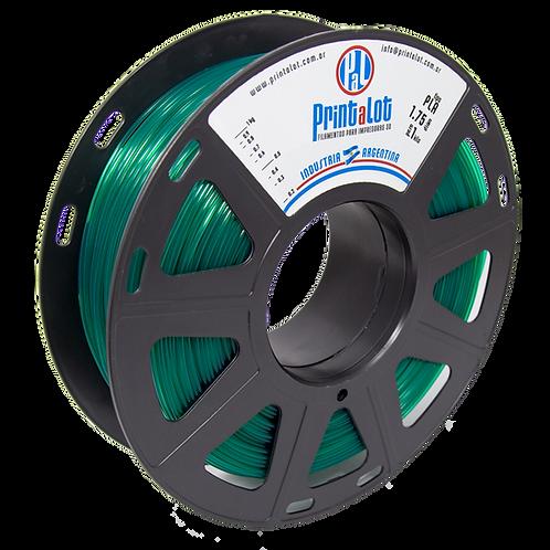 Filamento PrintaLot PLA Translúcido Verde - 1,75mm - 1kg
