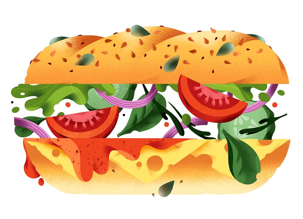 Publix Food Illustration