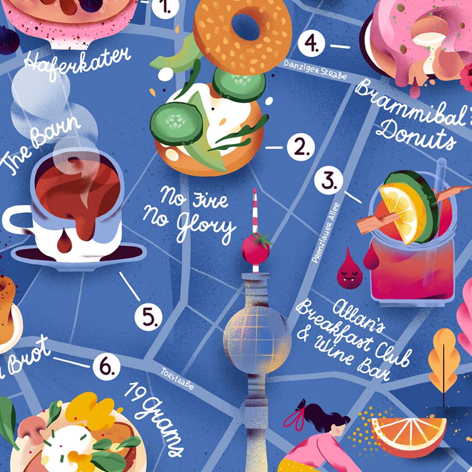 Berlin Breakfast Map