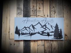 4 Hangers wooden sign