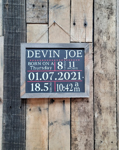 small wooden customized sign