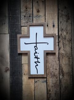 Faith Cross Wooden Frame