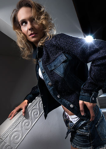 Jeansjacke Fashion Model by Thomas Jahn