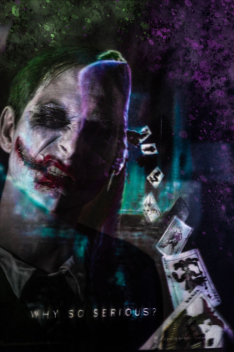 Cosplay The Joker Batman Selbstportrait by Thomas Jahn