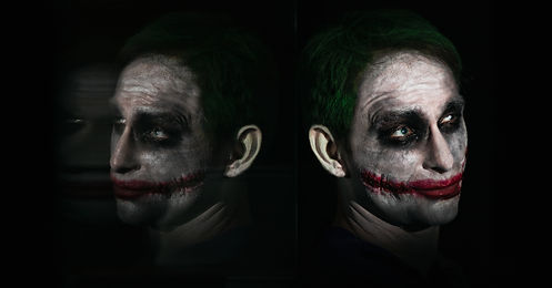 Spiegelung The Joker Portrait by Thomas Jahn