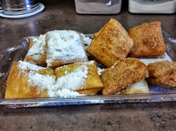 Traditional and Cinn/sugar beignets