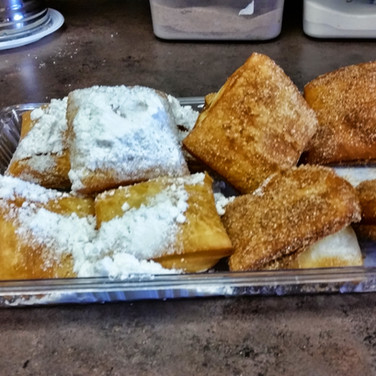 Beignets and Cinnmon Beignets