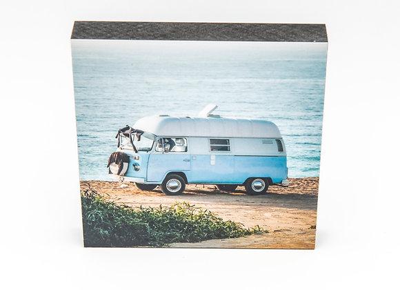 Eva Photography Quadrat Bild VW Bus Küste Maße 10x10