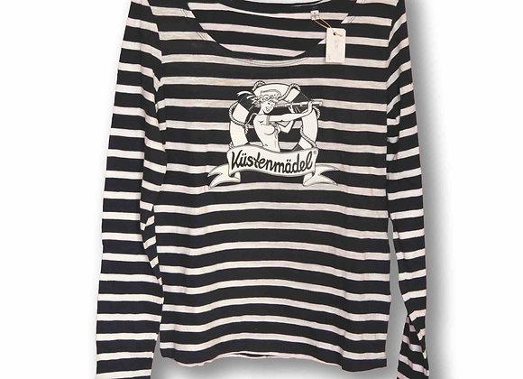 Küstenmädel PIN UP maritimes striped Ringelshirt Ahoi langarm Rockabilly